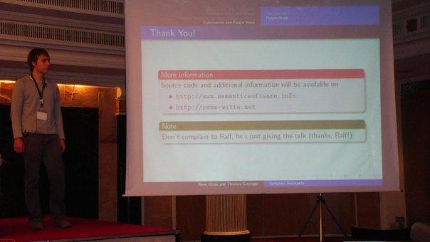Presentation at ASWC 08