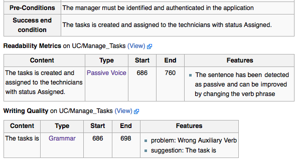 Automatic Quality Assurance of Wiki Content in ReqWiki