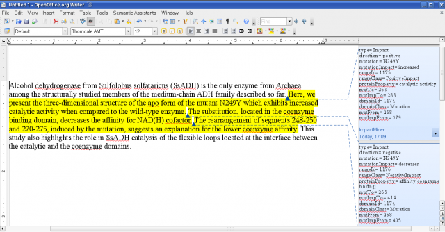 OMM Semantic Assistant in OpenOffice