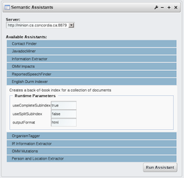 Semantic Assistants Portlet in Liferay