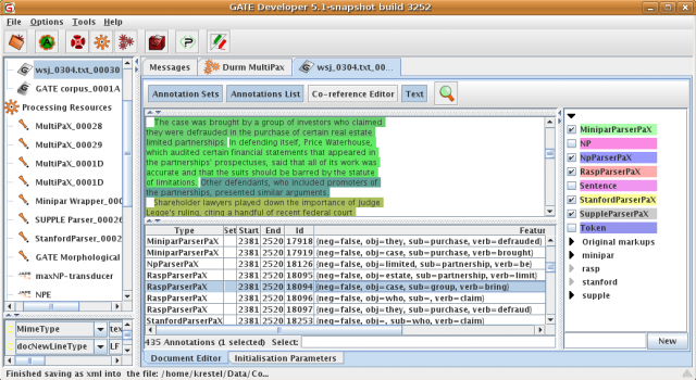 Screenshot of GATE with PAX annotations