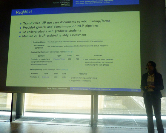 Wiki-NLP Presentation at WikiSym '12